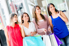 Women at the shopping center Stock Photography