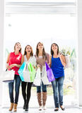 Women at the shopping center Royalty Free Stock Photography