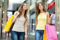 Women shopping in the city Stock Photos