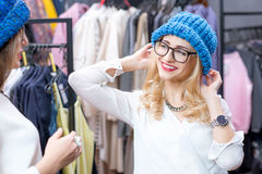 Women shopping clothes Royalty Free Stock Photo