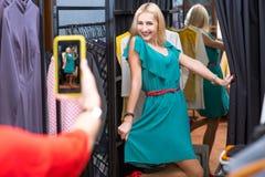 Women shopping clothes Stock Photography