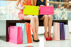 Women shopping. Royalty Free Stock Photo