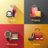 Women Shopping Design Concept Stock Photos