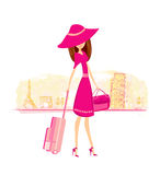 Women Shopping in France and Italy Stock Photography