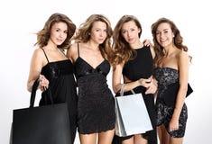 Women shopping royalty free stock photography