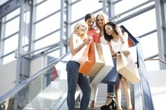 Women in shopping mall Stock Image