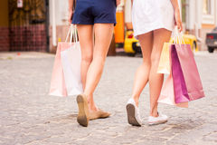 Women shopping. Royalty Free Stock Photography