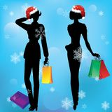Women on shopping. Stock Photos