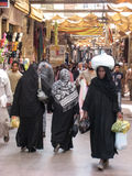 Women shopping at the Souk. Egypt. Women shopping at the Souk in Luxor. Egypt Royalty Free Stock Photo