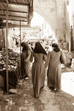 Women shopping at the Souk. Ouarzazate. Morocco Royalty Free Stock Photography