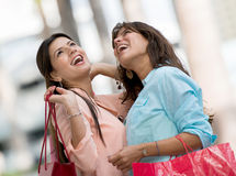 Women in a shopping spree Stock Photography