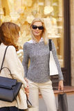 Women on shopping tour Royalty Free Stock Photos