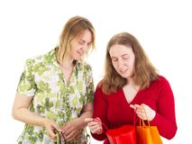 Women on shopping tour Stock Photo