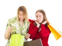 Women on shopping tour Stock Photography