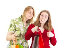 Women on shopping tour Royalty Free Stock Photography