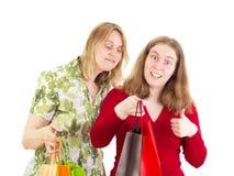 Women on shopping tour Royalty Free Stock Photography