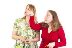 Women on shopping tour Stock Photos