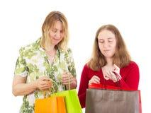 Women on shopping tour Stock Images