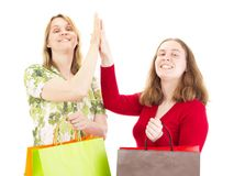 Women on shopping tour Royalty Free Stock Image