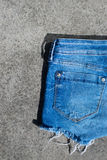 Women short jeans Royalty Free Stock Image