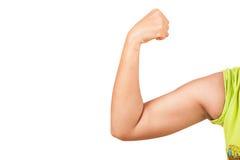Women show big arm Stock Photos