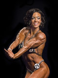 Women Show Off Amazing Physiques in Vancouver Stock Image