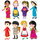 Women showing culture royalty free illustration