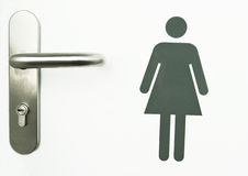 Women sign. On the door of a toilet Stock Images