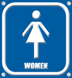 Women sign 3d Royalty Free Stock Image