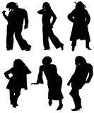 Women silhouette Stock Photography