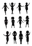 Women in silhouette collection Stock Image