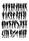 Women silhouette Stock Photos
