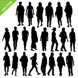 Women silhouette vector Stock Photography