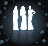 Women silhouettes Royalty Free Stock Images