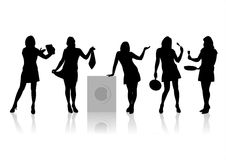 Women silhouettes 5 Stock Image