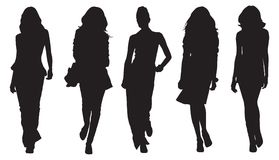 Women silhouettes Royalty Free Stock Photos