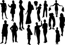 Women silhouettes Royalty Free Stock Photo