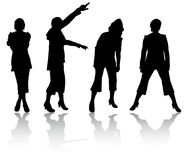 Women silhouettes Stock Photo