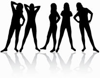 Women silhouettes Stock Images
