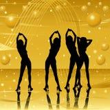 Women silhouettes on stage Stock Photos