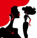 Women silhouettes. Stylish  illustration of fashion and beauty Royalty Free Stock Photography
