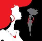 Women silhouettes. Stylish  illustration of fashion and beauty Stock Photo