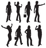 Women silhouettes  on white Stock Images