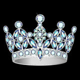Women silver crown on a black background Royalty Free Stock Photo