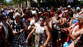 Women singing and dancing at the fair, Jerez de la Frontera stock video