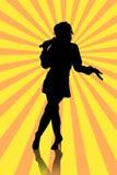 Women singing at karaoke party Royalty Free Stock Image