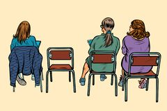Women sit back on chairs Royalty Free Illustration