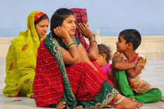 Women sitting outside Taj Mahal in Agra, Uttar Pradesh, India Royalty Free Stock Photos
