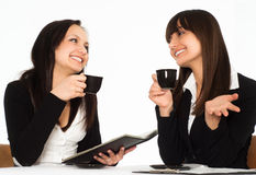 Women sitting at the table Stock Image