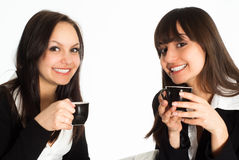 Women sitting at the table Stock Photo